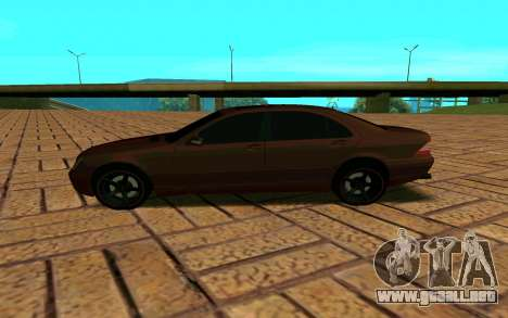 Mercedes S600 W220 JoRick Revazov para GTA San Andreas left