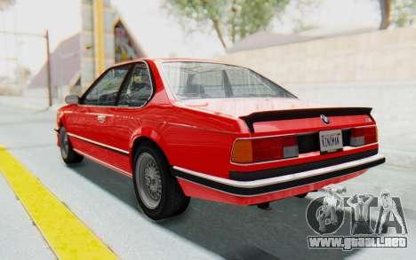 BMW M635 CSi (E24) 1984 IVF PJ2 para GTA San Andreas left