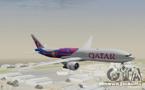 Boeing 777-300ER Qatar Airways v2 para GTA San Andreas