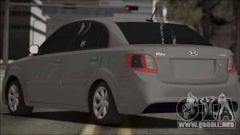 Kia Rio para GTA San Andreas left