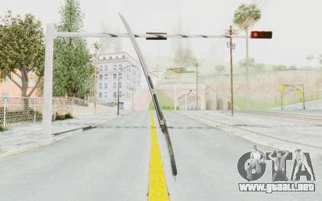 Yuri Katana para GTA San Andreas segunda pantalla