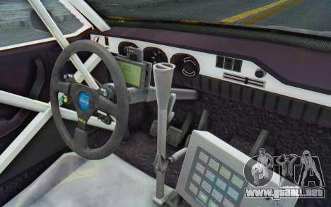 Dacia 1300 Rally para visión interna GTA San Andreas