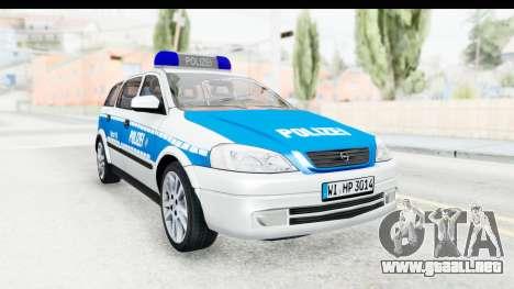 Opel Astra G Variant Polizei Hessen para la visión correcta GTA San Andreas
