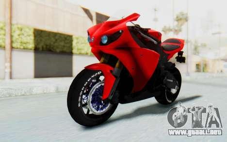 Yamaha YZF-R1 para la visión correcta GTA San Andreas