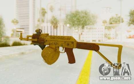 GTA 5 DLC Finance and Felony - Assault Rifle para GTA San Andreas segunda pantalla