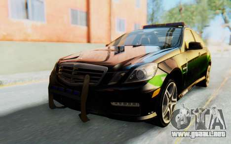 Mercedes-Benz E63 German Police Green para GTA San Andreas