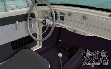 Volkswagen Beetle 1200 Type 1 1963 Herbie para visión interna GTA San Andreas