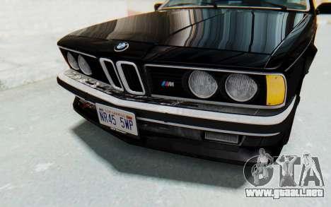 BMW M635 CSi (E24) 1984 IVF PJ3 para la vista superior GTA San Andreas