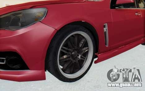 Chevrolet Super Sport 2014 para GTA San Andreas vista hacia atrás