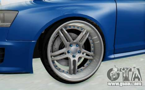 Audi RS6 para GTA San Andreas vista hacia atrás