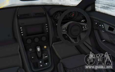 Jaguar F-Type Project 7 para visión interna GTA San Andreas