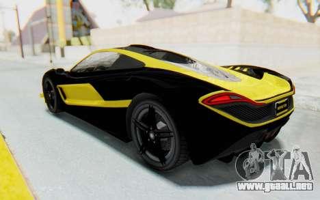 GTA 5 Progen T20 Devil PJ para GTA San Andreas interior