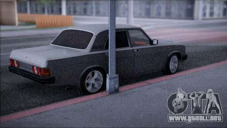 V8 GAS 31029 para GTA San Andreas vista posterior izquierda
