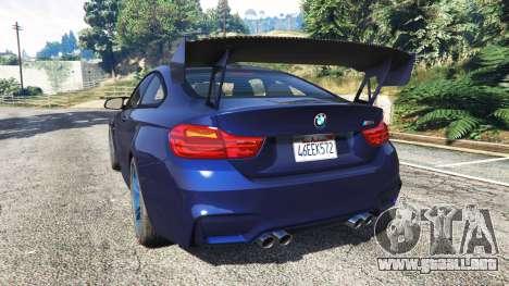 GTA 5 BMW M4 2015 v0.01 vista lateral izquierda trasera