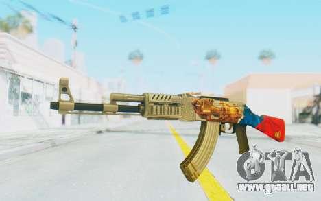 AK-47A1 Russian Flag para GTA San Andreas segunda pantalla