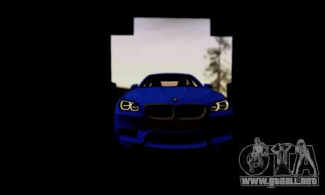 BMW M5 F10 G-Power para la vista superior GTA San Andreas