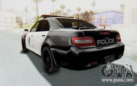 ASYM Desanne XT Pursuit v1 para GTA San Andreas vista posterior izquierda