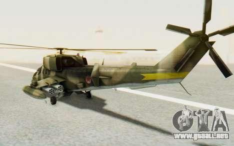 WZ-19 Attack Helicopter Asian para la visión correcta GTA San Andreas