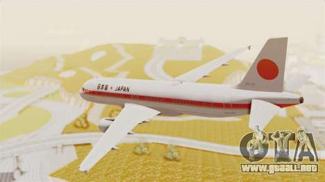 Airbus A320-200 Japanese Air Force One para la visión correcta GTA San Andreas