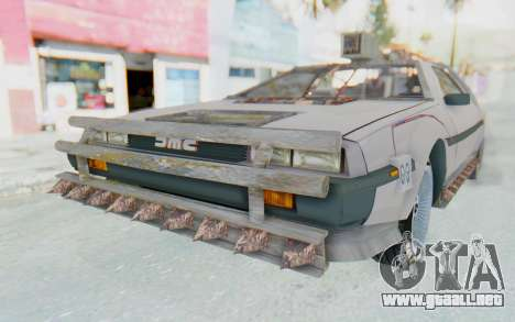 DeLorean DMC-12 2012 End Of The World para GTA San Andreas vista posterior izquierda