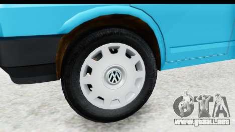 Volkswagen T4 para GTA San Andreas vista hacia atrás