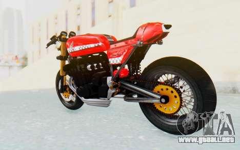 Honda CB750 Moge Cafe Racer para GTA San Andreas left