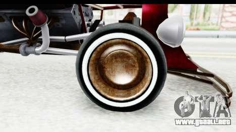 Unique V16 Fordor Ratrod para GTA San Andreas vista hacia atrás