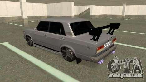 VAZ 2107 Deriva para la visión correcta GTA San Andreas