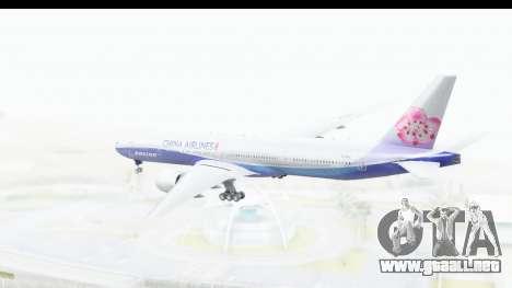 Boeing 777-300ER China Airlines Dreamliner para la visión correcta GTA San Andreas