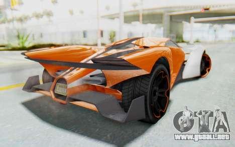 GTA 5 Grotti Prototipo v1 IVF para GTA San Andreas left