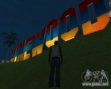 New Vinewood Armenia para GTA San Andreas segunda pantalla