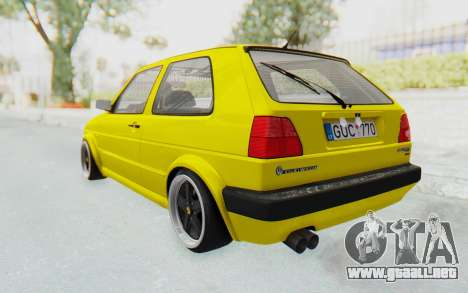 Volkswagen Golf Mk2 Lemon para GTA San Andreas left