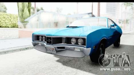 Mercury Cyclone Spoiler 1970 para la visión correcta GTA San Andreas