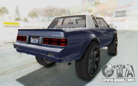 GTA 5 Willard Faction Custom Donk v3 IVF para GTA San Andreas vista posterior izquierda
