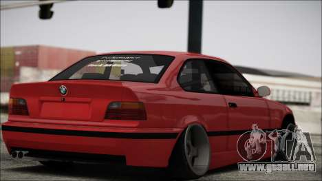 BMW E36 Stance para GTA San Andreas vista posterior izquierda