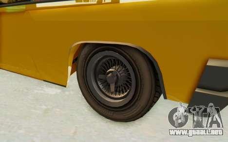 GTA 5 Declasse Voodoo PJ SA Lights para GTA San Andreas vista hacia atrás
