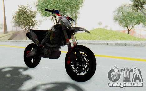 Kawasaki KX125 Supermoto v2 High Modif para la visión correcta GTA San Andreas