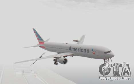 Boeing 767-300ER American Airlines para GTA San Andreas vista posterior izquierda