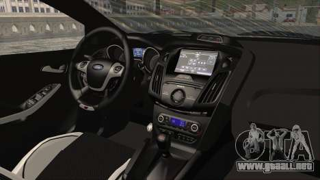 Ford Focus ST 2013 PDRM para visión interna GTA San Andreas