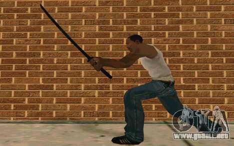 Sword of Blades para GTA San Andreas quinta pantalla