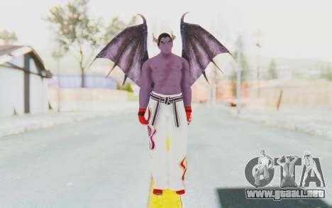 Devil Kazuya para GTA San Andreas segunda pantalla