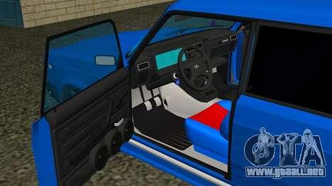 VAZ 2107 Deporte para la vista superior GTA San Andreas