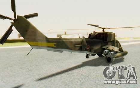 WZ-19 Attack Helicopter Asian para GTA San Andreas left