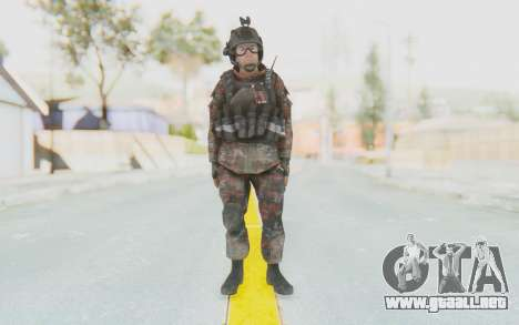 COD MW2 Russian Paratrooper v2 para GTA San Andreas segunda pantalla