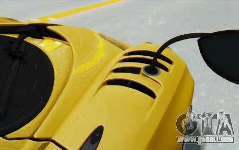 Pagani Huayra BC 2016 para visión interna GTA San Andreas