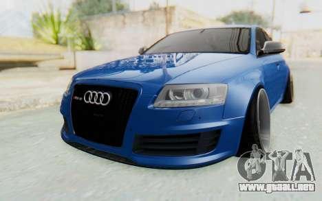 Audi RS6 para GTA San Andreas vista posterior izquierda