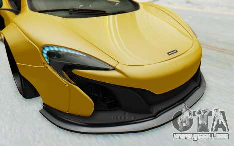 McLaren 650S Spyder ZenWorks para vista inferior GTA San Andreas