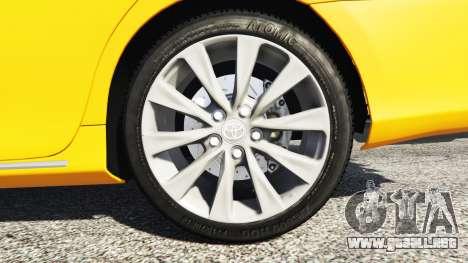 GTA 5 Toyota Camry V50 vista lateral trasera derecha