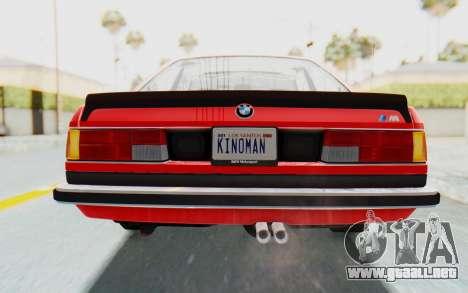 BMW M635 CSi (E24) 1984 IVF PJ2 para vista inferior GTA San Andreas