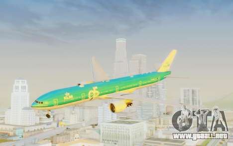 Boeing 777-300ER KLM - Royal Dutch Airlines v3 para GTA San Andreas vista posterior izquierda